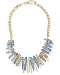 Panacea Graduated Stone Beaded Necklace - Lyst