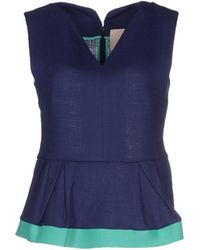 Roksanda Top blue - Lyst