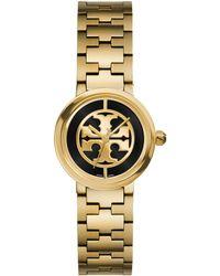 Tory Burch | Reva Goldtone Stainless Steel Bracelet Watch/black | Lyst