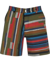 House of Holland | Bloc Woven Shorts | Lyst