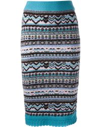 Sister by Sibling - Fair Isle Knitted Skirt - Lyst