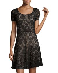 Zac Posen Shortsleeve Lace Dress - Lyst