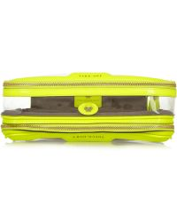 Anya Hindmarch In Flight Neon Patent Leathertrimmed Travel Case - Lyst