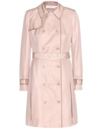 Tory Burch Fallon Cotton and Silkblend Trench Coat - Lyst