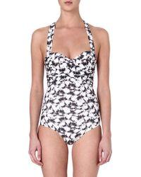 Heidi Klein Caicos Bandeau Pleated Swimsuit Prtcaicos - Lyst
