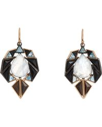 Nak Armstrong - Mixed Gemstone Geometric Drop Earrings - Lyst