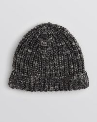 John Varvatos Chunky Rib Knit Slouchy Hat - Lyst