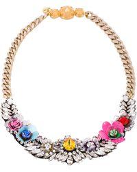 Shourouk Flower Necklace - Lyst