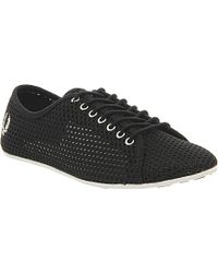 Fred Perry Alley Perforated Trainers - For Women - Lyst