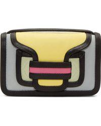 Pierre Hardy Grey Colorblocked Envelope Shoulder Bag - Lyst