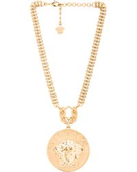 Versace Gold Medusa Necklace - Lyst