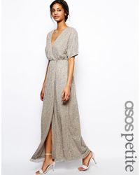 Asos Sequin Kimono Sleeve Maxi Dress - Lyst