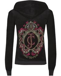 Juicy Couture Ornate Velour Hoody - Lyst