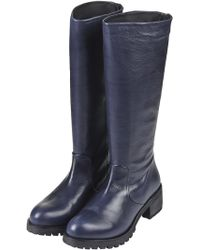 Topshop Leather Knee High Riding Boots  - Lyst
