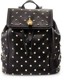 Alexander McQueen Studded Skull-padlock Backpack - Lyst