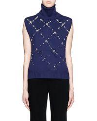 3.1 Phillip Lim | Embellished Wool Turtleneck Sleeveless Sweater | Lyst