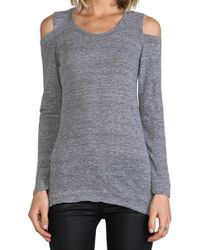 Monrow Open Shoulder Top - Lyst