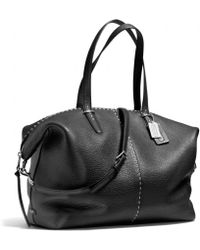 COACH - Bleecker Large Cooper Satchel in Stitched Pebbled Leather - Lyst
