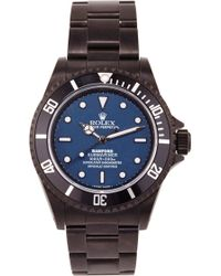 Bamford Watch Department - Bamford Monogrammable Submariner With A Blue Dial - Lyst
