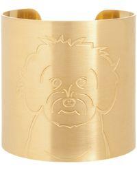 K Kane - 18k Gold-plated Maltipoo Dog Cuff - Lyst