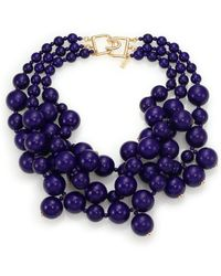 Kenneth Jay Lane Beaded Statement Necklace - Lyst