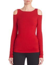 Donna Karan New York | Long-sleeve Cold Shoulder Top | Lyst