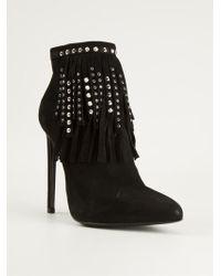 Saint Laurent Stiletto Boots - Lyst
