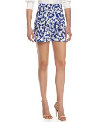 Carolina Herrera - High-Waisted Gaspar-Print Shorts - Lyst