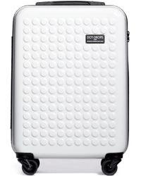 "Dot Drops - X-tra Light 21"" Carry-on Suitcase - White - Lyst"