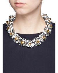 J.Crew | Embellished Cord Necklace | Lyst