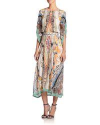 Etro Teepee Printed Silk Dress - Lyst