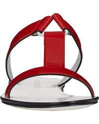 Jil Sander Patent T-strap Slides - Lyst