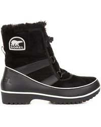 Sorel Tivoli Rubber and Suede Boots - Lyst