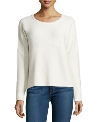 Helmut Lang Knit Scoop-neck Pullover - Lyst