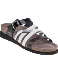 Mephisto Huleda Slide Sandal Multi Black Patent - Lyst