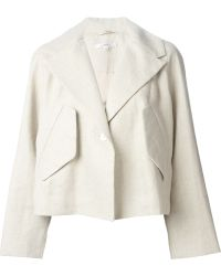 Carven Oversized-Pocket Cotton and Linen-Blend Jacket - Lyst