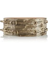 Jimmy Choo Bella Snakeeffect Leather Waist Belt - Lyst