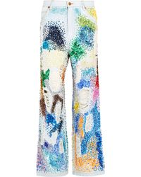 Ashish - Embellished Distressed High-rise Boyfriend Jeans - Lyst