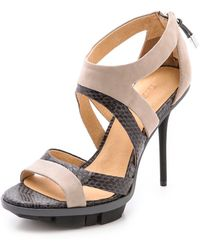 L.a.m.b. Follie Cutout Sandals - Lyst