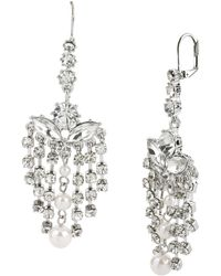 Betsey Johnson Crystal Chandelier Drop Earrings - Lyst
