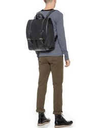 Lotuff Leather - Canvas & Leather Backpack - Lyst