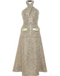 Kalmanovich Lurex Halter Dress - Lyst