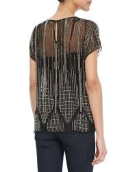 Parker Nomad Beaded Chiffon Top - Lyst