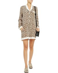 Sea Animal-print Stretch-silk Jersey Playsuit - Lyst