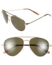 Bottega Veneta 58Mm Aviator Sunglasses - Lyst