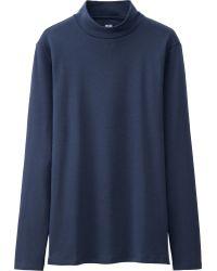 Uniqlo | Women Supima Cotton High Neck Long Sleeve T-shirt | Lyst