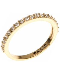 Judith Jack - Crystal And Goldplated Sterling Silver Ring - Lyst