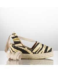 Ralph Lauren Collection Zebraprint Espadrille - Lyst