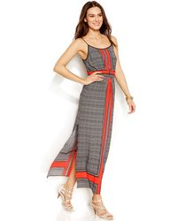 Vince Camuto Printed Maxi Dress - Lyst