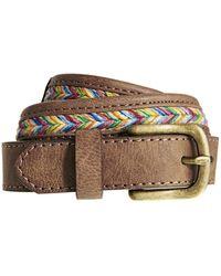 Asos Multi Weave Vintage Look Boyfriend Belt - Lyst
